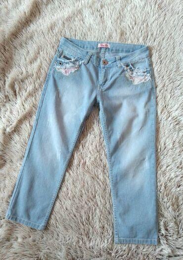 Dolce& Gabbana retro jeans, svetle, kapri, skinny.Naznacena