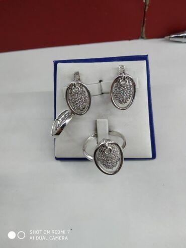 реалми 5 про цена в бишкеке в Кыргызстан: Комплект серебро 925 пробы родированные, с кулоном размер 17.5 цена