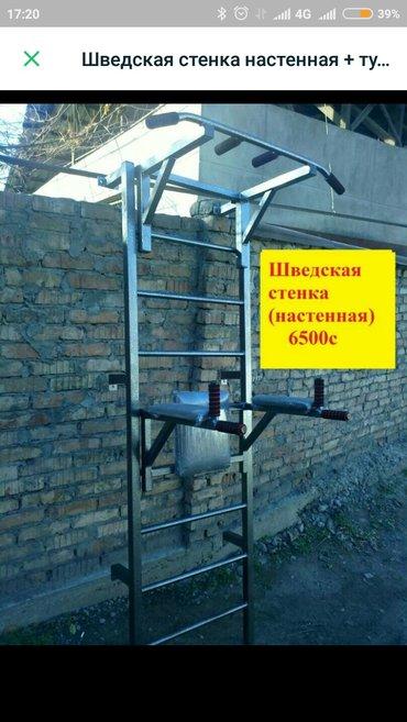 Турники в Лебединовка: Шведская стенка, турник и брусья съёмные высота лестницы 220см,В