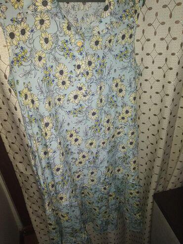 Женская одежда в Чолпон-Ата: Платье летнее до колен. Новое. Очень удобное. Материал лён. Размер