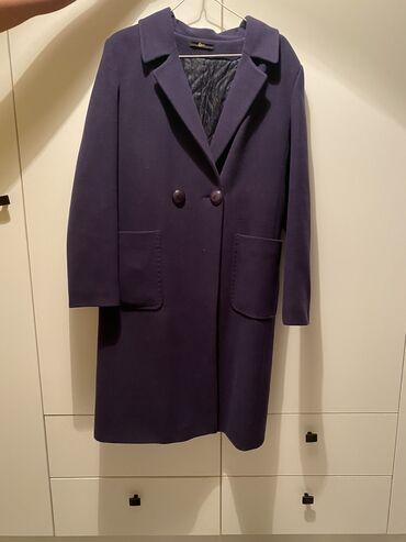������������ �������������� �� �������������� в Кыргызстан: Кашемировое женское пальто темно-синего цвета, 46 размер, надевали два