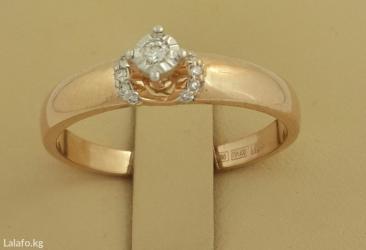 Кольцо из красного золота 585 проба с бриллиантом в Бишкек