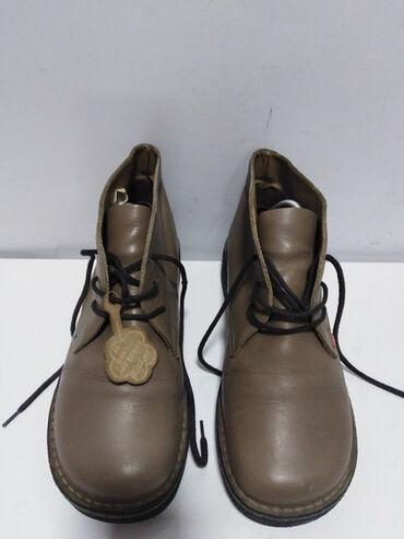 Braon bermude - Srbija: KicKers vrhunske kožne duboke cipele,prirodna fina kvalitetna