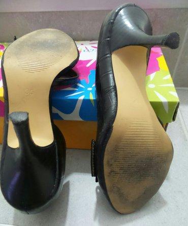 Ženske cipele na štiklu,crne boje,broj 35. Obuvene su dvaput,u - Beograd - slika 3