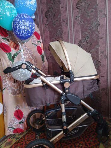 Детская коляска Сезон:зима-летоСостояние:отличное!!!Цена:6200сом!Торг