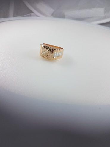 Печатка из красного золота 585проба размер кольца 21.5 в Бишкек - фото 2