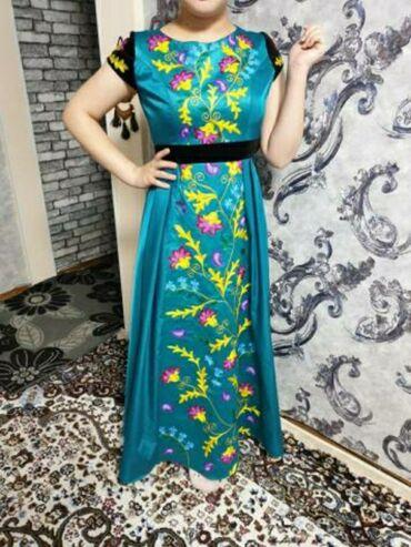 вышивка бишкек in Кыргызстан | ГРУЗОВЫЕ ПЕРЕВОЗКИ: Нарядное платье,сшитое на заказ,плотная ткань и ручная вышивка,42-44