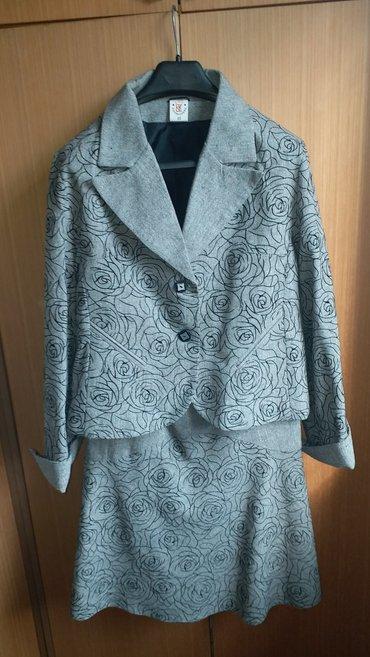 Zenski komplet sako-suknja 50 velicina nov, ramena 45, grudi 112, duzi - Kraljevo