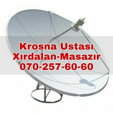 Xirdalanda antena ustasi, krosnu quraşdırılması. Xirdalan Masazir в Cəlilabad