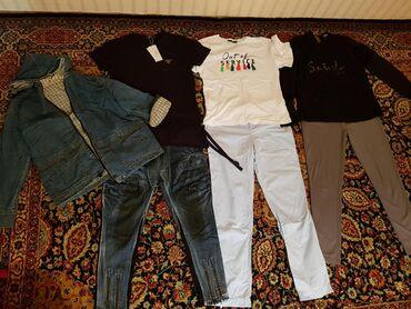 отдам-вещи-даром в Кыргызстан: Женские вещи, размер 44-46, всё за 1500с. Футболки новые! Ватсап