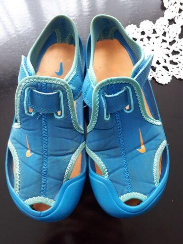 Ostala dečija odeća | Sombor: Pltpuno ocuvane Nike decije sandale, plavo /narandzaste boje, izuzetno