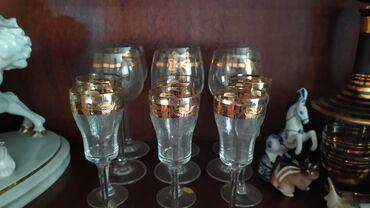 Фужеры и вазочки Богемия. Фужеры 1500 за набор, вазочки 1500 штука