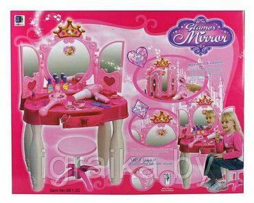 стол трюмо в Кыргызстан: Трюмо отлично подойдет для маленькой принцессы.В комплекте стульчик