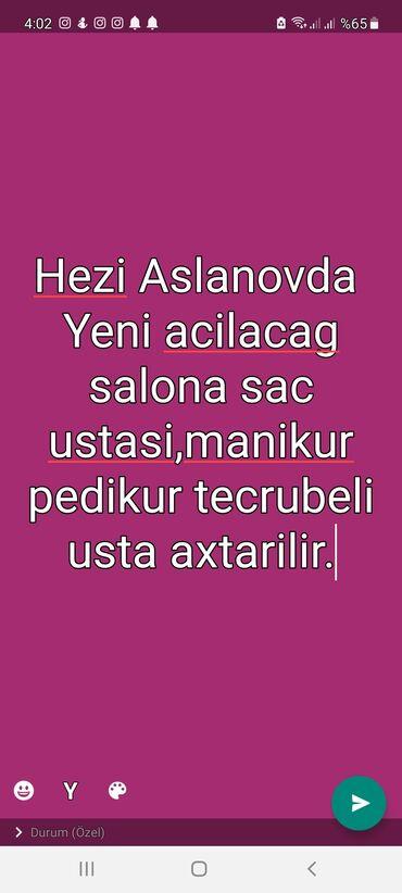 İş - Azərbaycan: Pedikur ustası. Həzi Aslanov r-nu