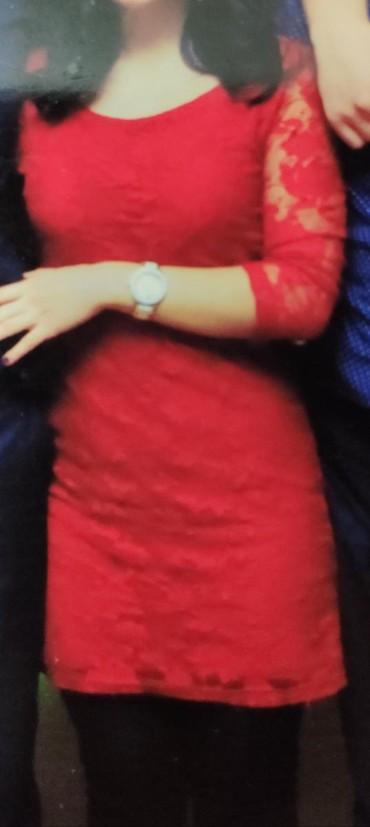 Платье мини гипюровое, сзади замочек, в Бишкек