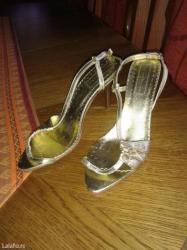 Nove,nisu nosene,zlato boja sandale. Vel. 38. - Valjevo