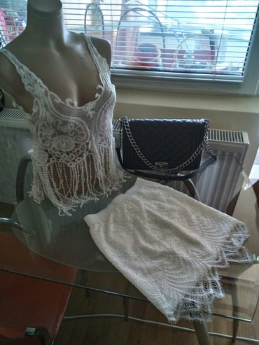 Sako suknja komplet - Srbija: Samo prodaja. Prelep komplet.  Suknja i topic. Suknja ima postavu i