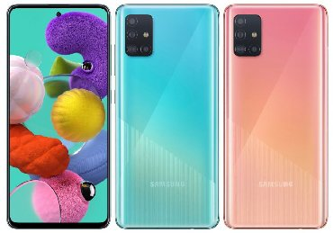Samsung-m - Кыргызстан: Новый Samsung A51 Синий