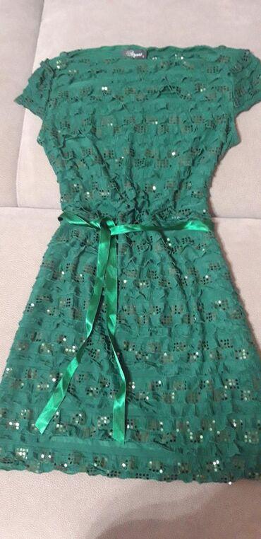 Платье на размер s/m(36-38), Турция. Цвет насыщенный тёмно- зелёный В