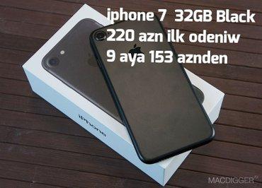 Bakı şəhərində Iphone 7 32 GB Ilkin odeniw 220 azn 9 aya 153 azn