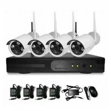 Ip камеры jooan wi fi камеры - Кыргызстан: Комплект беспроводных камер видеонаблюдения WiFi Full KIT 1080P ( 4 ка