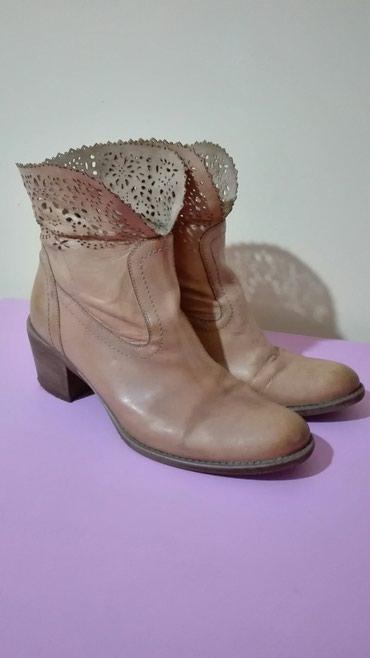 Italijanske kozne cizme br 40(26 cm) - Pancevo
