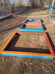 Деревянные песочницы для яслей и детсадов! Размеры и расцветки по