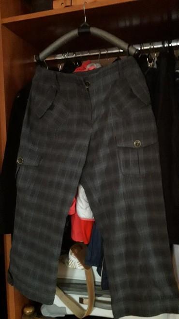 Pamuk-kvalitetne-pantalone - Srbija: Sive pantalone 3/4 br m nove. kvalitetne