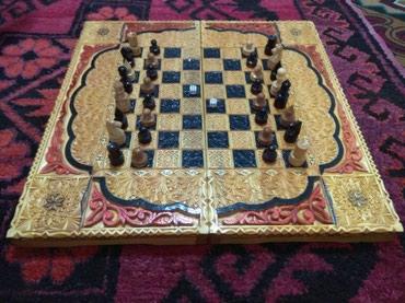 Спорт и отдых - Кызыл-Кия: Адрес: Кызыл-Кыя Шахматная доска+нарда поменяю. телефон книга или ме