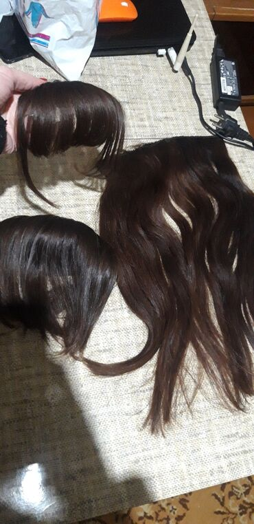 saç boyaları - Azərbaycan: Tebii cirt cirt sac 50sm uzunu 50azncolkalar tebiidi 25m
