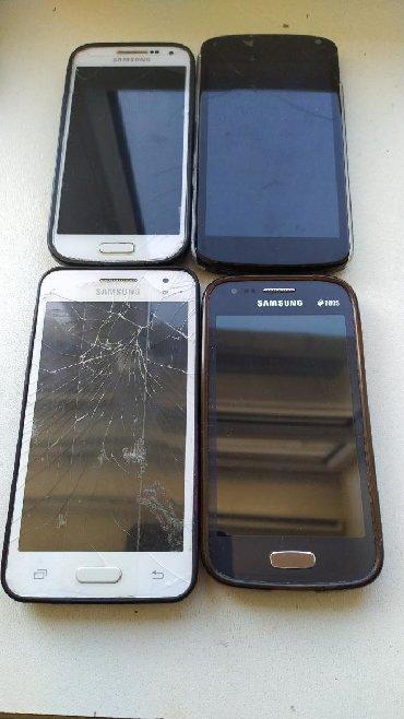 Samsung-j3 - Ленкорань: Telefonlar satılır Xarab Samsung S4 mini- platası yanıb təmir edilə