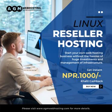 Linux Reseller Hosting price is just NPR 999/month from AGM Web Ho