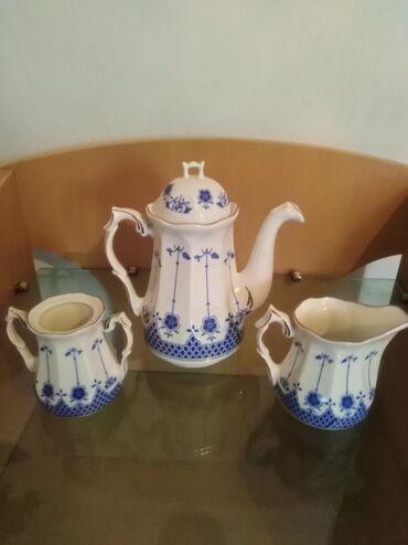 Čajnici | Srbija: Porcelan beli sa pozlatom iz 80ih retkost. Rasprodaja samo 400 din