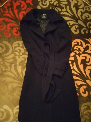 Пальто темно синего цвета, 44 размер
