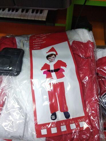 Santa klaus geyimiŞaxta baba paltarıDəstUşaqlar və böyüklər