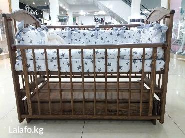Деревянная кроватка 503. 3 дуб маятник в Бишкек