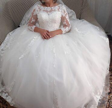 Личные вещи - Токмак: Продаю свадебное платье Новое, надевала его только я Цвет: айвори Разм