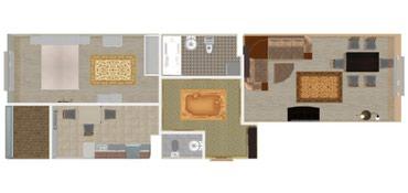 2х комнатная квартира в жилом доме в Бишкек