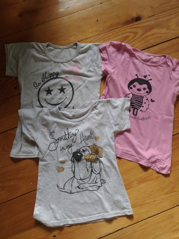 I tri majice - Srbija: Majice, za uzrast 7/8, cena za sve tri, ocuvane