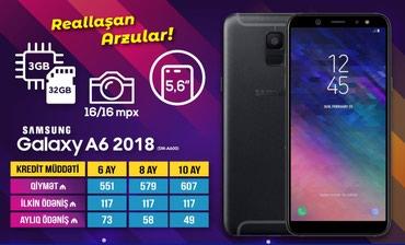 Bakı şəhərində Samsung A6 2018 kreditla