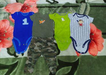 Слип картерс - Кыргызстан: Детские боди + штанишки. Фирма Картерс, возраст 3 месяца. Состояние