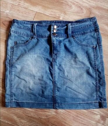 Teksas suknjica - Srbija: Kao nova, Vero modina teksas suknjica, veličina 42. Nošena jednom