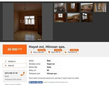 Bakı şəhərində Hovsanda yola yaxin ev satilir