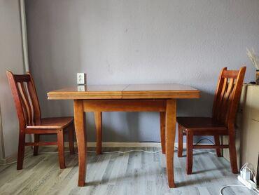 10589 объявлений: Стол деревянный и четыре стула ( на фото только два). Находимся в