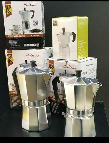 кофемашины в Кыргызстан: Итальянские гейзерные кофеварки на 3 персоны -2500сом на 6 персон-3000