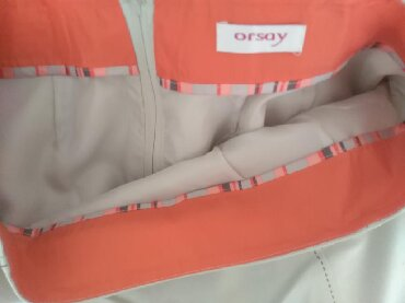 Duzina struk suknja - Srbija: ORSAY suknja nova samo stajala. Krem boje sa prelepom postavom. Struk