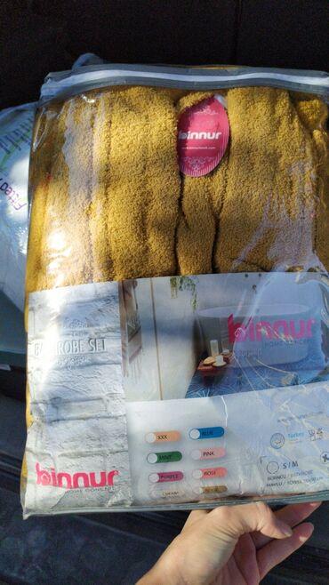 Домашние костюмы - Кыргызстан: Банные халаты махровые с полотенцем производства Турция. Скидки