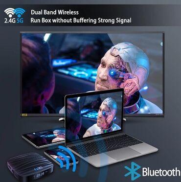 nano 4gb в Кыргызстан: Android TV Box 10.0 4GB 32GB 4K H.265 Media Player 3D видео 2,4G Wi-Fi