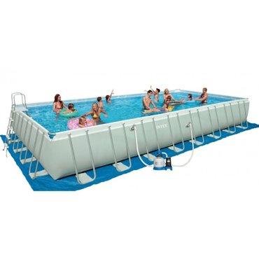 Xırdalan şəhərində Бассейн интекс с полным комплектом  размер; 10м*5м*1.32м