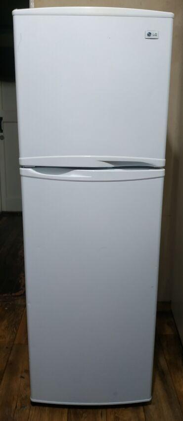 диски на камри 55 r17 в Кыргызстан: Б/у Двухкамерный Белый холодильник LG